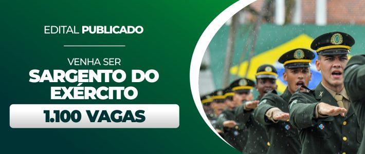 SARGENTO DO EXÉRCITO COM 1.100 VAGAS