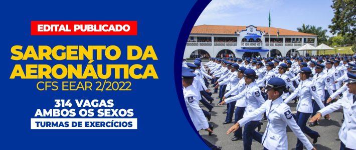 SARGENTO DA AERONÁUTICA (314 VAGAS – AMBOS OS SEXOS)